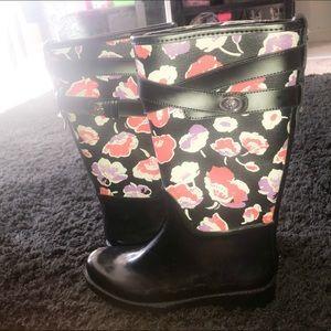 Coach floral print rain boots ✨